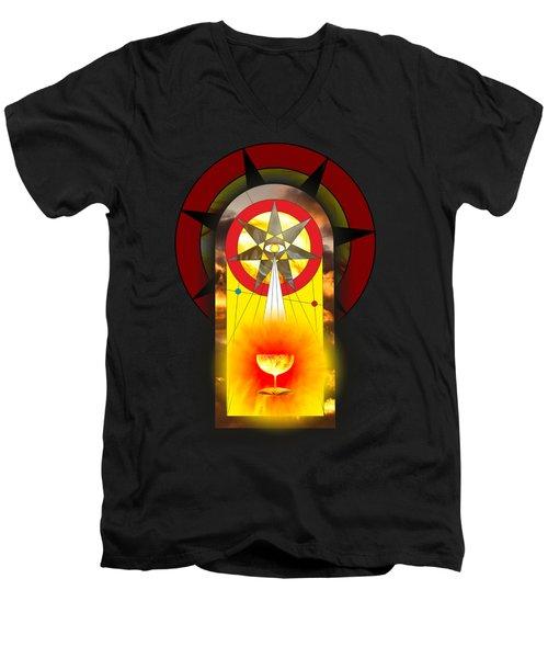 Grail Magic By Pierre Blanchard Men's V-Neck T-Shirt