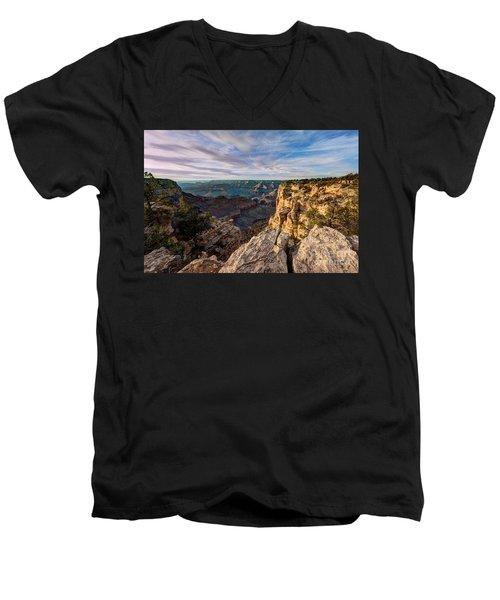 Grand Canyon National Park Spring Sunset Men's V-Neck T-Shirt