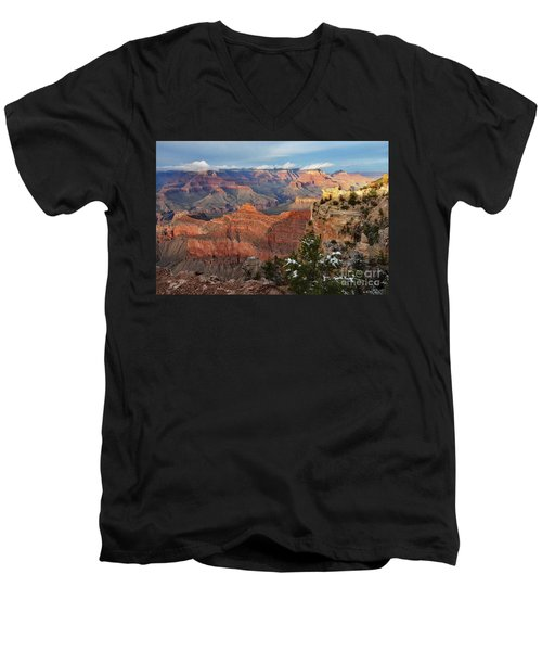 Grand Canyon View Men's V-Neck T-Shirt by Debby Pueschel