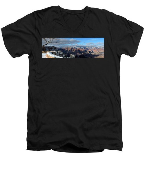 Grand Canyon Winter Vista Men's V-Neck T-Shirt