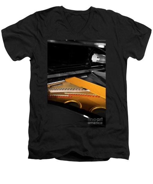 Grand In Selective Color Men's V-Neck T-Shirt