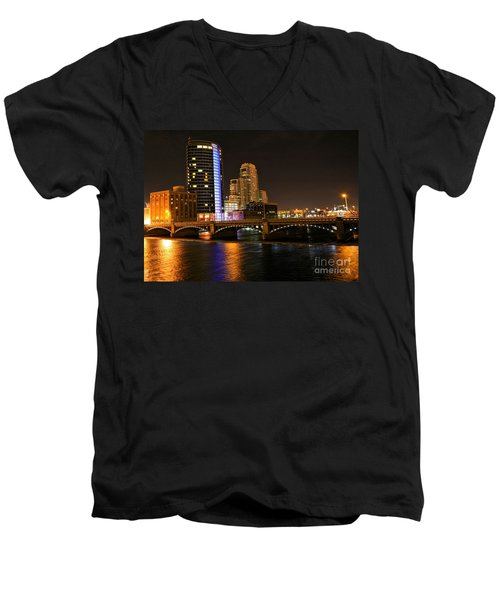 Grand Rapids Mi Under The Lights Men's V-Neck T-Shirt