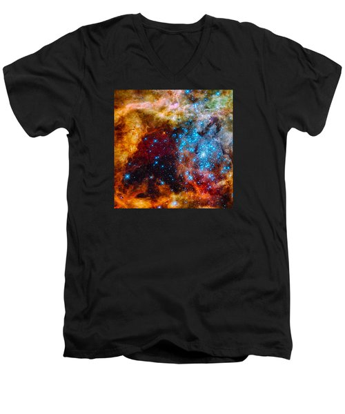 Grand Star-forming Region Men's V-Neck T-Shirt by Marco Oliveira