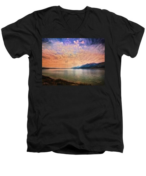 Grand Teton National Park - Jenny Lake Men's V-Neck T-Shirt