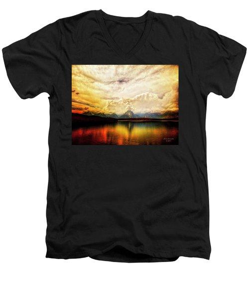 Grand Tetons - Jenny Lake No. 2 Men's V-Neck T-Shirt