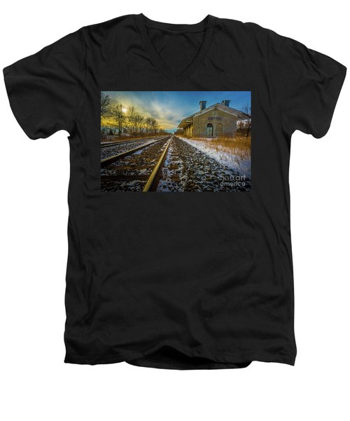 Grand Trunk Station  Men's V-Neck T-Shirt