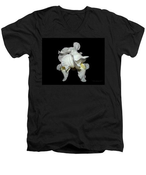 Grandma's White Iris Men's V-Neck T-Shirt