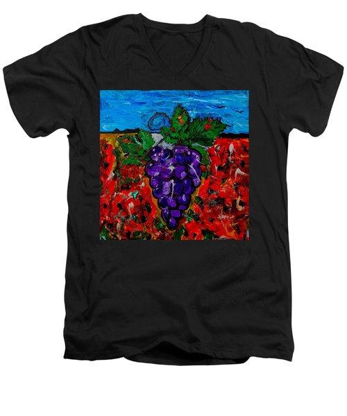 Grape Jazz Men's V-Neck T-Shirt