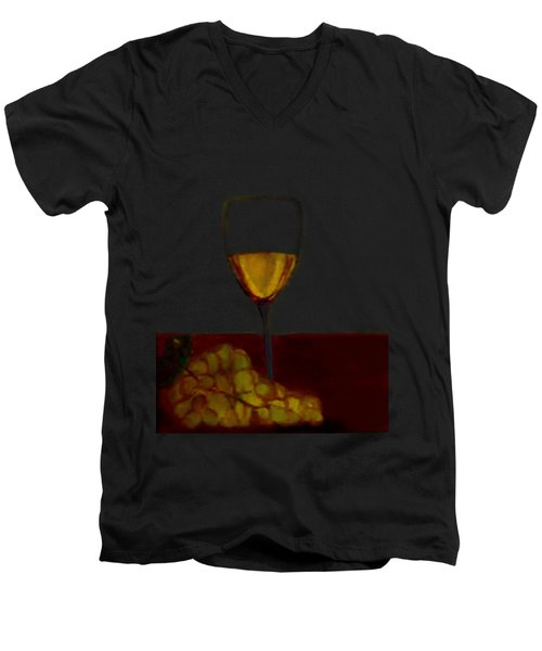 Grapes With Wine Men's V-Neck T-Shirt