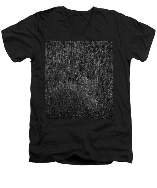 Grass Black And White Men's V-Neck T-Shirt by Glenn Gemmell
