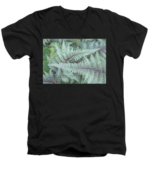 Grateful Men's V-Neck T-Shirt by Catherine Alfidi