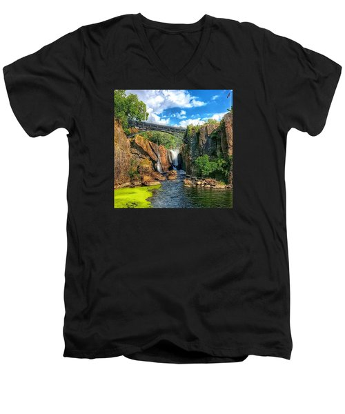 Great Falls In Paterson Men's V-Neck T-Shirt