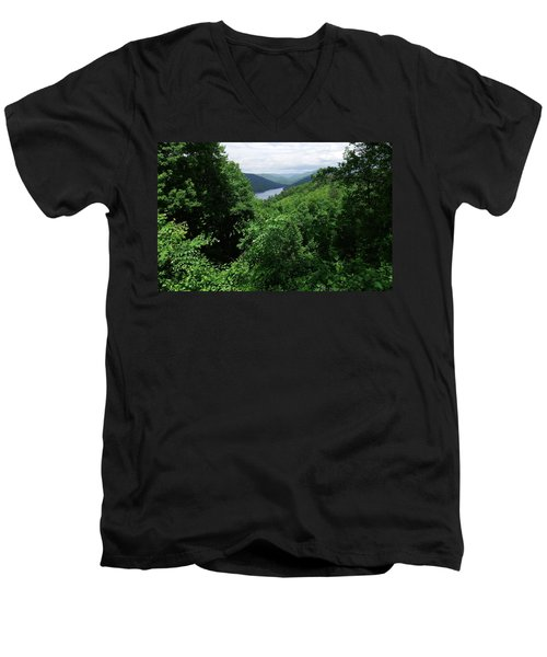 Great Smoky Mountains Men's V-Neck T-Shirt by Cathy Harper