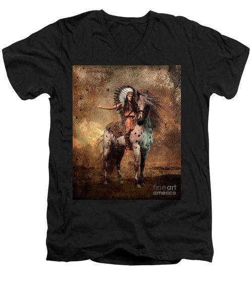Great Spirit Chief Men's V-Neck T-Shirt