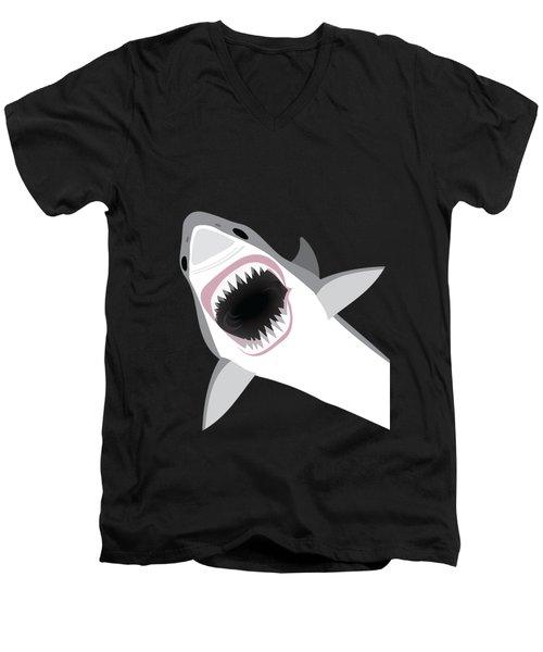 Great White Shark Men's V-Neck T-Shirt