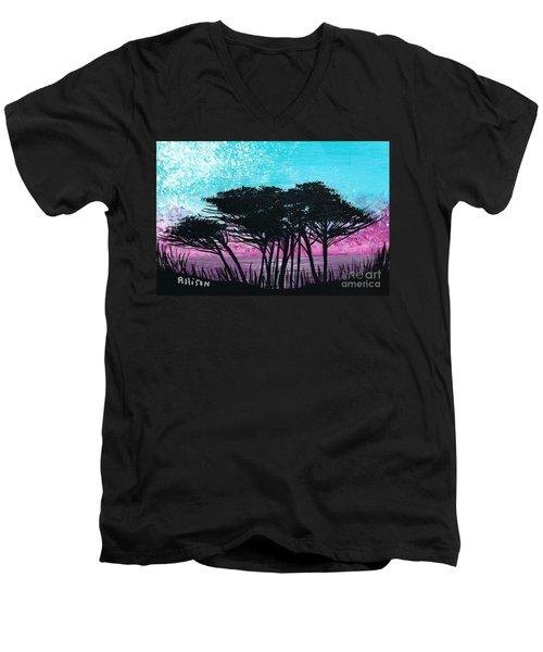 Grecian Sunset Men's V-Neck T-Shirt