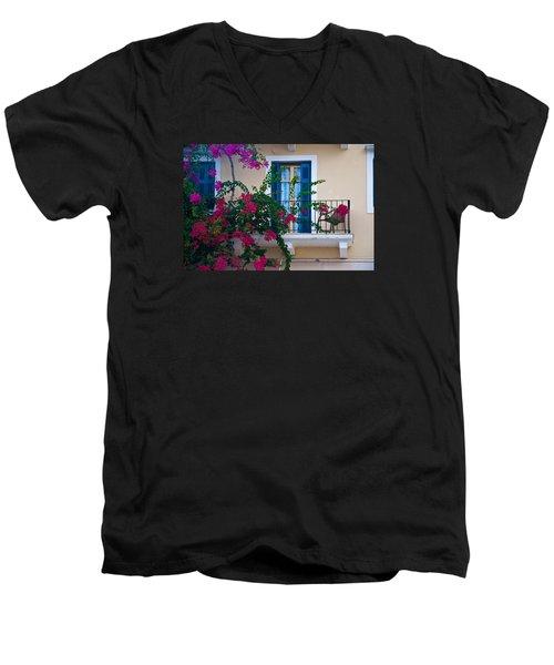 Men's V-Neck T-Shirt featuring the photograph Greek Beauty by Rob Hemphill