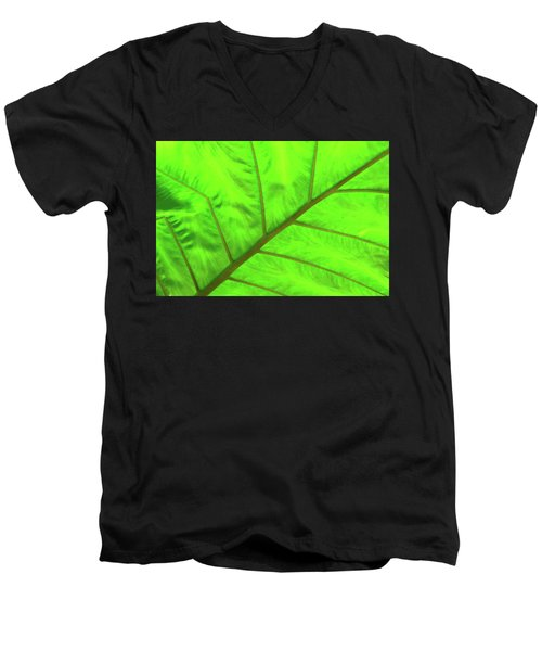 Green Abstract No. 5 Men's V-Neck T-Shirt