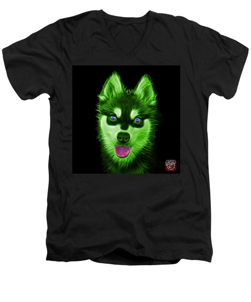 Green Alaskan Klee Kai - 6029 -bb Men's V-Neck T-Shirt