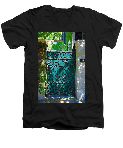 Green Gate Men's V-Neck T-Shirt