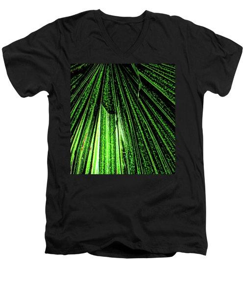 Green Leaf Forest Photo Men's V-Neck T-Shirt by Gina O'Brien