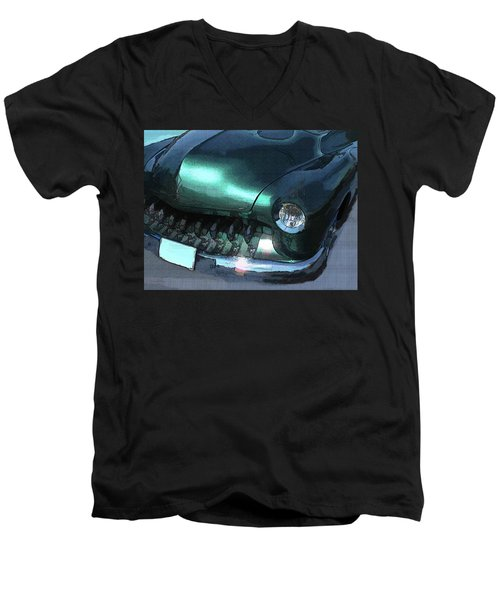 Green Mercury Custom Men's V-Neck T-Shirt
