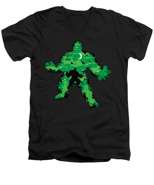 Green Monster Men's V-Neck T-Shirt