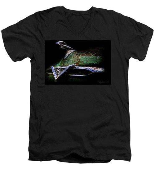 Green Ram Emblem Men's V-Neck T-Shirt