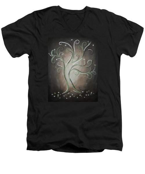 Green Tree Men's V-Neck T-Shirt