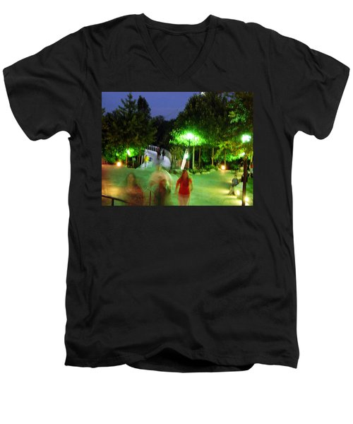 Greenville At Night Men's V-Neck T-Shirt