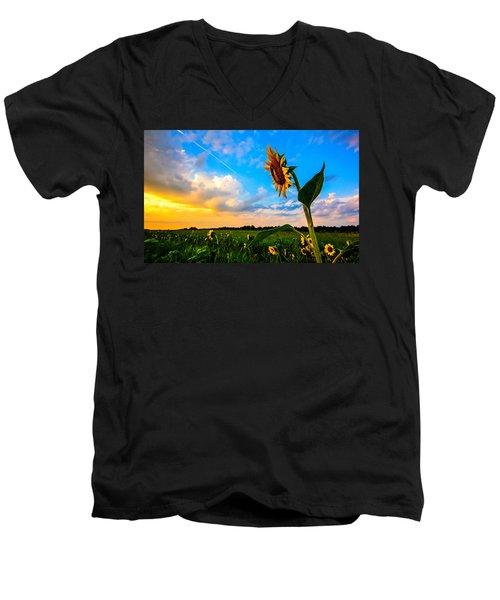 Greeting The Dawn  Men's V-Neck T-Shirt