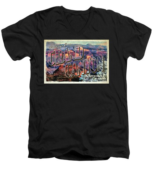 Greetings From Grand Canyon National Park Men's V-Neck T-Shirt