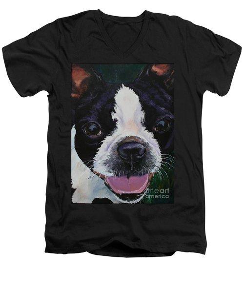 Grins Men's V-Neck T-Shirt