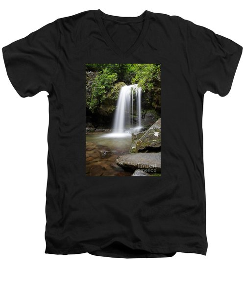 Grotto Falls Vertical Men's V-Neck T-Shirt