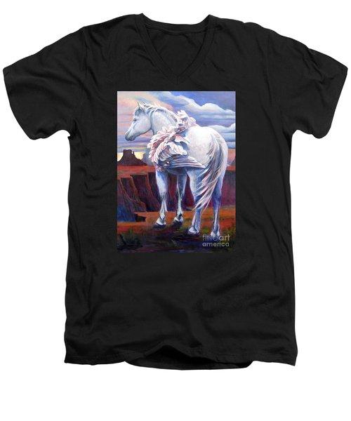 Grounded Men's V-Neck T-Shirt by Pat Burns