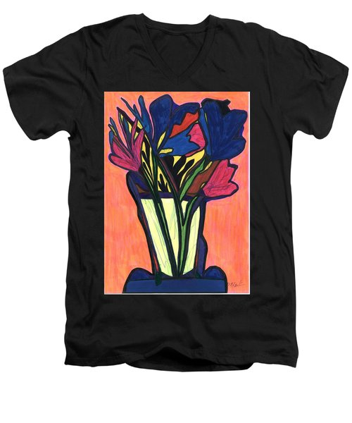 Growing Wild,  Men's V-Neck T-Shirt