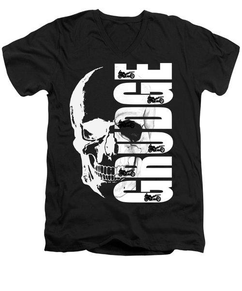 Grudge Skull Men's V-Neck T-Shirt