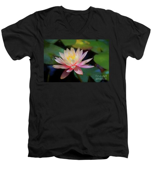 Grutas Water Lilly Men's V-Neck T-Shirt