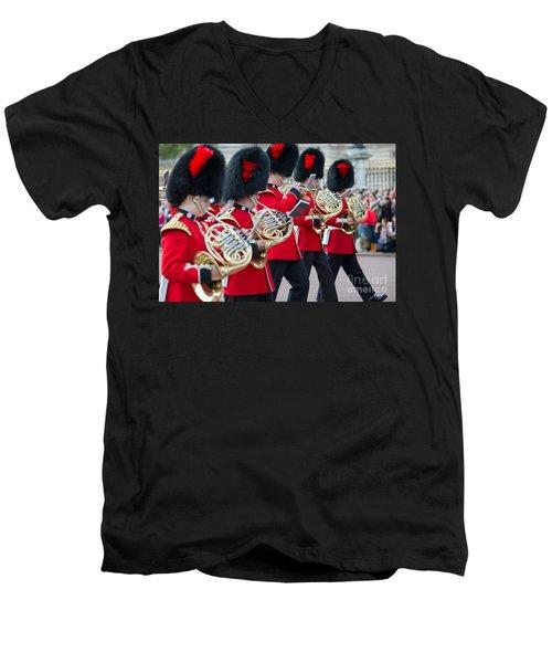 guards band at Buckingham palace Men's V-Neck T-Shirt