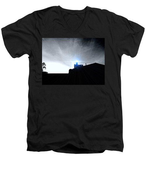 Guiding Light-alcatraz Men's V-Neck T-Shirt by Douglas Barnard