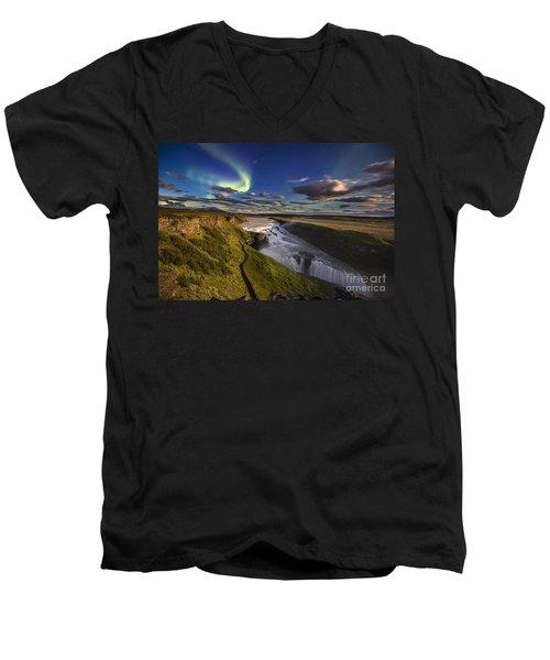 Gullfoss Iceland Men's V-Neck T-Shirt