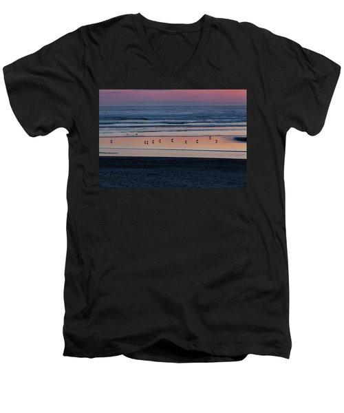 Gulls At Sunset Men's V-Neck T-Shirt
