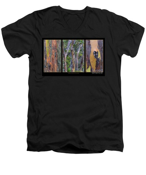Gum Trees At Lake St Clair Men's V-Neck T-Shirt by Werner Padarin