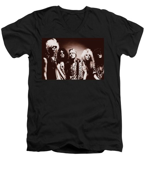 Guns N' Roses - Band Portrait 02 Men's V-Neck T-Shirt