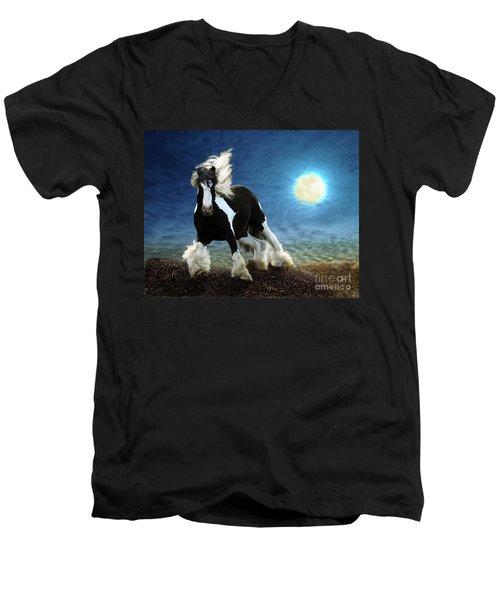 Gypsy Moon Men's V-Neck T-Shirt by Melinda Hughes-Berland