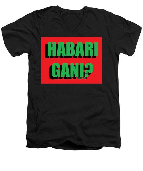 Habari Gani Men's V-Neck T-Shirt
