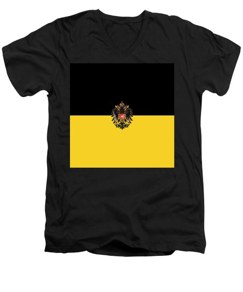Habsburg Flag With Imperial Coat Of Arms 3 Men's V-Neck T-Shirt