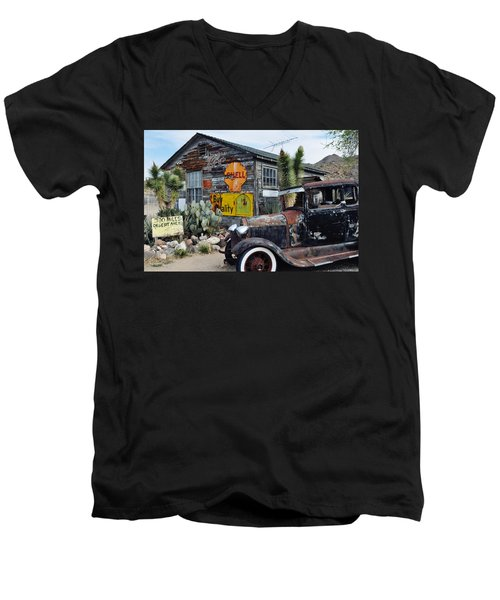 Hackberry Route 66 Auto Men's V-Neck T-Shirt