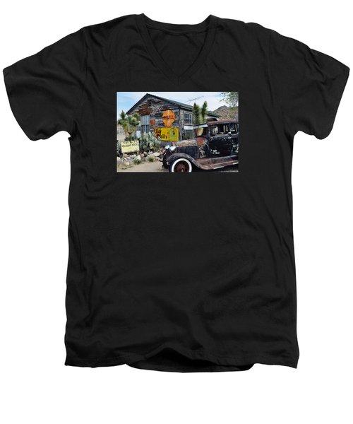 Hackberry Route 66 Auto Men's V-Neck T-Shirt
