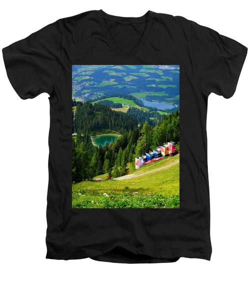 Hahnenkamm - Kitzbuehel Men's V-Neck T-Shirt
